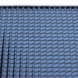 Black Tiled roof background - Stockfoto