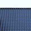 Black Tiled roof background - Stock Photo