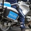 Rides motorcycle cop — Stock Photo #16514429