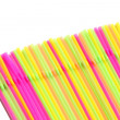 Straws cocktail Isolated white background — Stock Photo