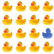 Lots of rubber ducks — Stock Photo #16514697