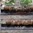 Kebabs on skewers - Foto Stock