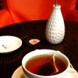 Cup of tea on the table — Stok fotoğraf