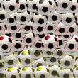 Multiplied soccer balls - Stock Photo