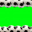 Soccer ball frame - Foto de Stock  