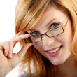 Young woman with eyeglasses — Stock Photo #16518155