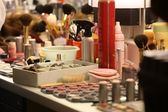 Makeup in the dressing room — Stock Photo