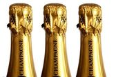 Three bottles of champagne — Stock Photo