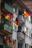 Germany flag on balcony — Stock Photo