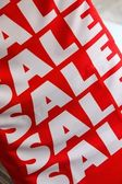 A poster with the word Sale — Stock Photo