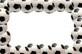 Soccer ball frame — Stock Photo