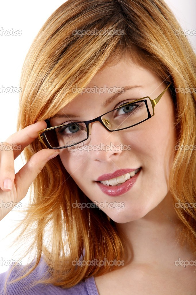 Young woman with eyeglasses — Stock Photo #16518195