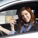 Woman in car — Stock Photo #16623813