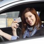 Woman in car — Stock Photo #16625035