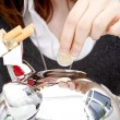 Good intent: stop smoking and save money - Foto Stock