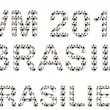 Words WM 2014, brasil, brasilien — Stock Photo