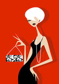 Elegant Woman — Stock Vector