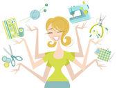 Glada hantverkare — Stockvektor