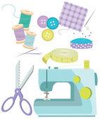 缝制的物品 — 图库矢量图片