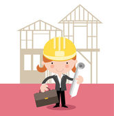 Female architect /planner/engineer — Stock Vector