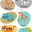Jungle animals — Vector de stock #18795797
