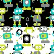Cool robots seamless pattern — Stock Vector