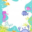 Sea Creatures Underwater Scene — Stock Vector #18797353