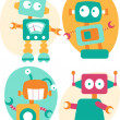 Stock Vector: Cute Robot characters