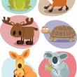 Stock Vector: Animal set