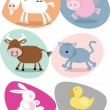 Cute Farm Animals — Stock Vector #18798273