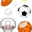 Stock Vector: Sports Ball set