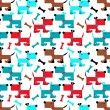 Stock Vector: Dog pattern