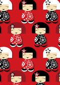 симпатичные японские повторяющийся узор — Cтоковый вектор