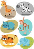 Jungle animals — Stock Vector