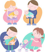 Parents with their baby — Stock Vector