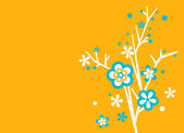 Floral -Yellow and turquoise — Stock Vector