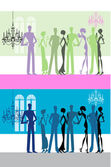 Posh drinks party — Stock Vector
