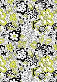 Scruffy flowers pattern — Stock Vector