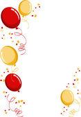 Balloon party border — Stock Vector