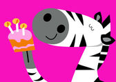 Birthday zebra — Stock Vector