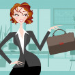 Professional Businesswoman — Stock Vector