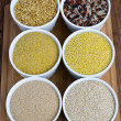 Kamut, Classic Mixed Rice, Fine Bulgur, Millet, Amaranth And Quinoa — Stock Photo #14006015