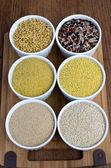 Kamut, clássico misturado a arroz, bem bulgur, painço, amaranto e quinoa — Foto Stock