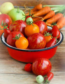Apple-Coloured Tomatoes And Others — Stock Photo