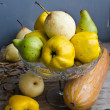 Quince, Butternut Squash, Bell Pepper And Pears — Stockfoto