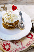 Saint Valentine's Carrot Cake — Stock Photo