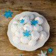 Christmas Meringues — Stock Photo