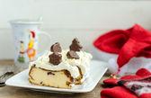 Santa's First Breakfast. Cheesecake Lviv. — Stock Photo