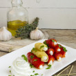 Stock Photo: Goat Cheese Bell Pepper Rolls