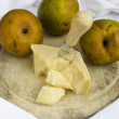 Pears And Parmesan Cheese — Stock Photo